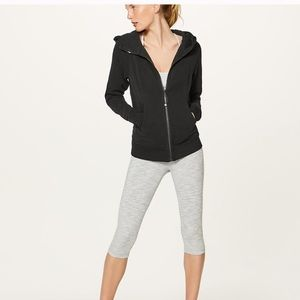 Lulu lemon lululemon black jacket hoodie scuba 4